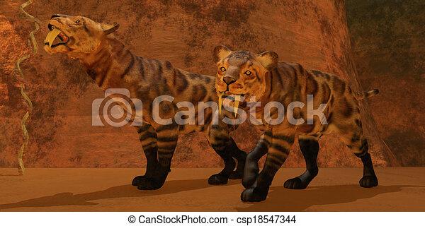 Tiger Chasing Prey Clipart