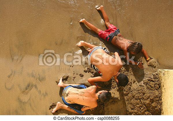 sable, excavateurs - csp0088255