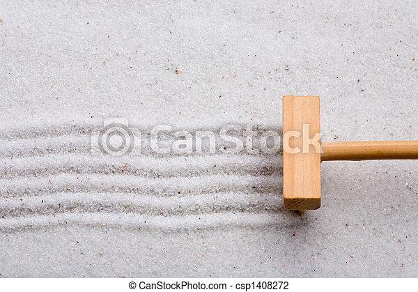 sable, râteau - csp1408272