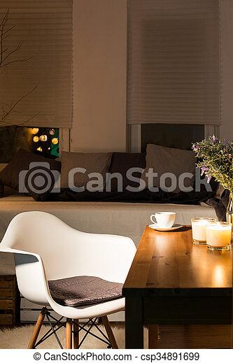 sabor, persona, bueno, habitación - csp34891699