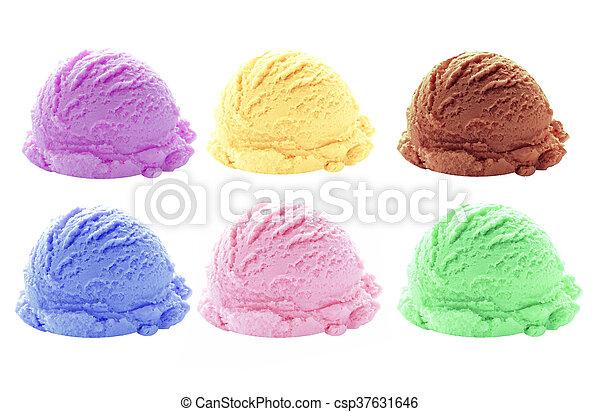 Sabores de helado - csp37631646