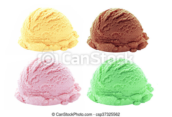 Sabores de helado - csp37325562