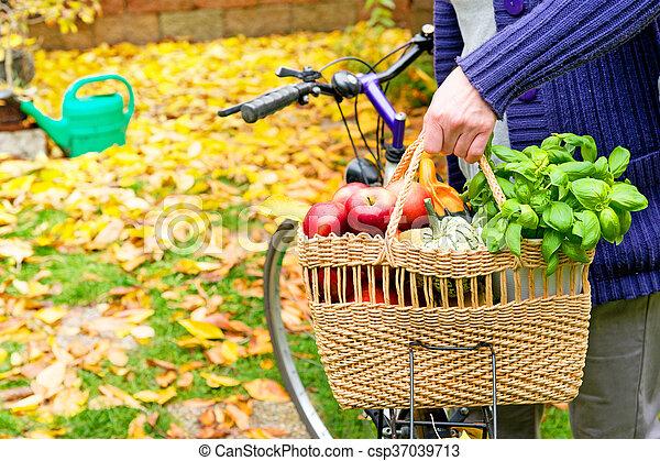 sac à provisions, vélo - csp37039713