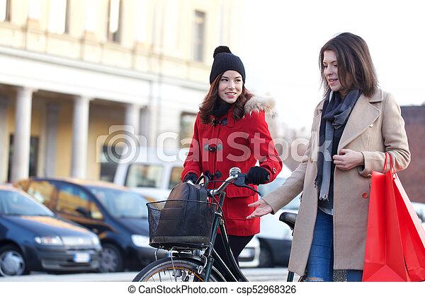 sac, achats, femmes - csp52968326