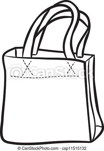 sac, achats, griffonnage - csp11515132