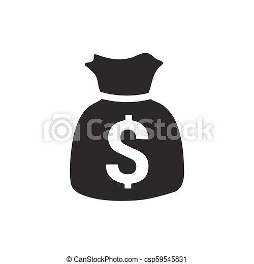 sac argent, icône - csp59545831