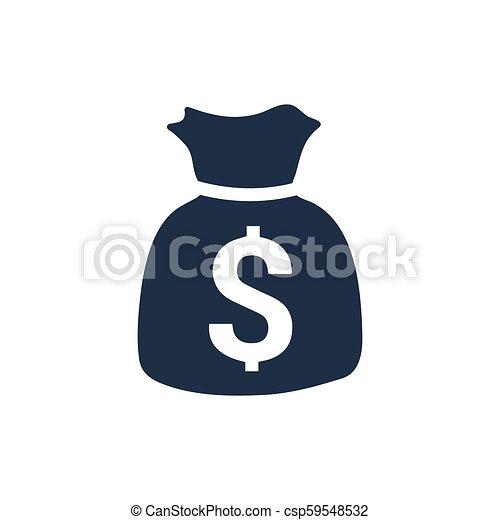 sac argent, icône - csp59548532