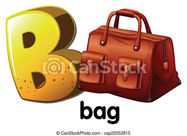 sac, b, lettre - csp22052815