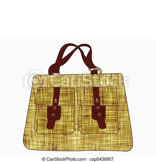 sac, blanc, textured, contre, main - csp5436907