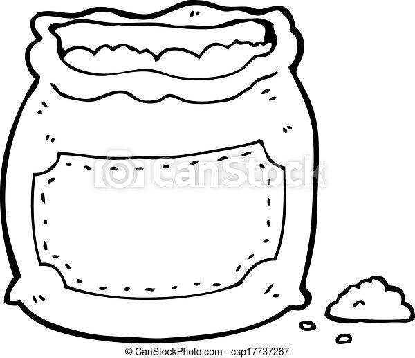 Sac dessin anim farine - Coloriage farine ...