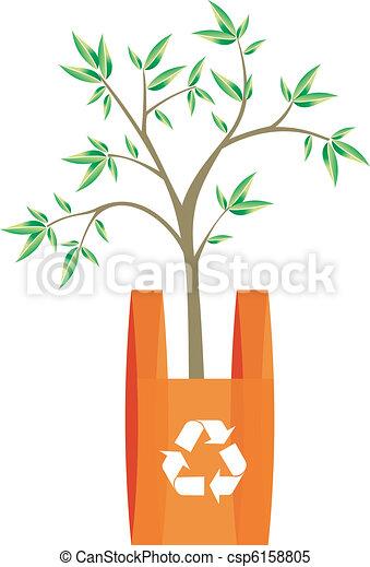 sac, intérieur, recyclage, arbre - csp6158805