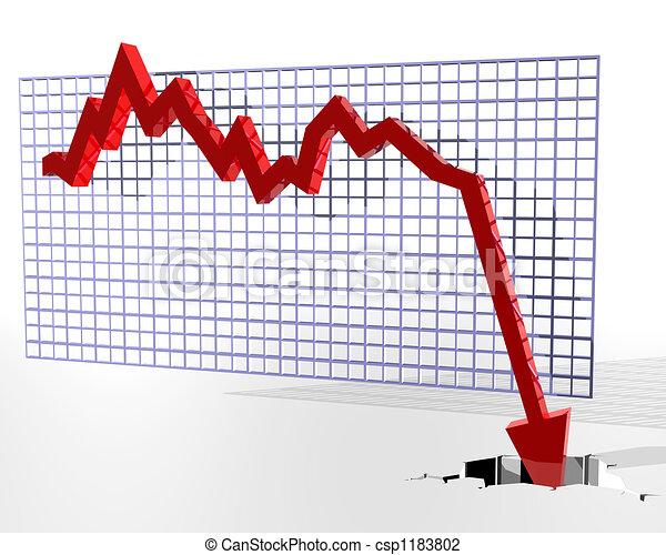 Chart zeigt schlechte Dinge - csp1183802