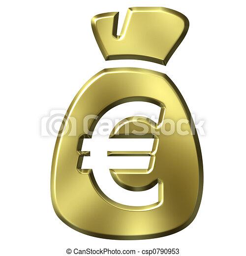 Sack Full of Euros - csp0790953