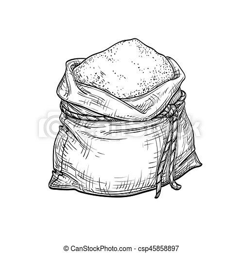 Sack of flour. - csp45858897