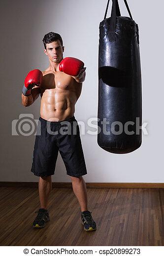 Saco de arena gimnasio boxeador muscular lleno for Gimnasio arena