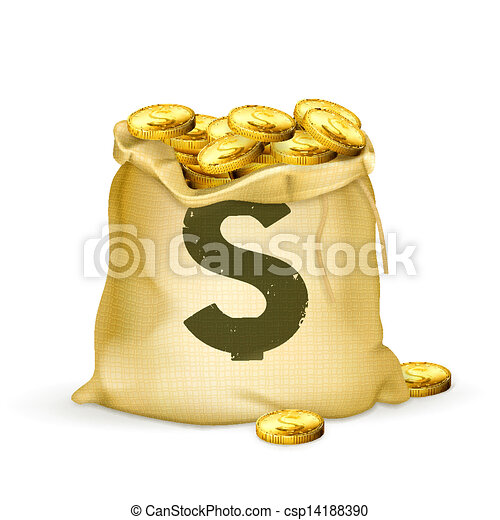 saco, ouro - csp14188390
