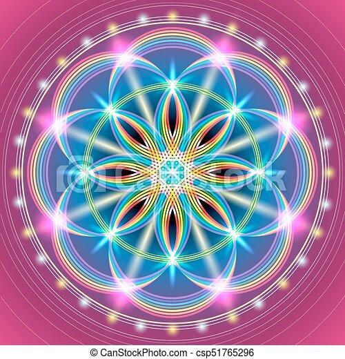 sacré, fleur, géométrie - csp51765296