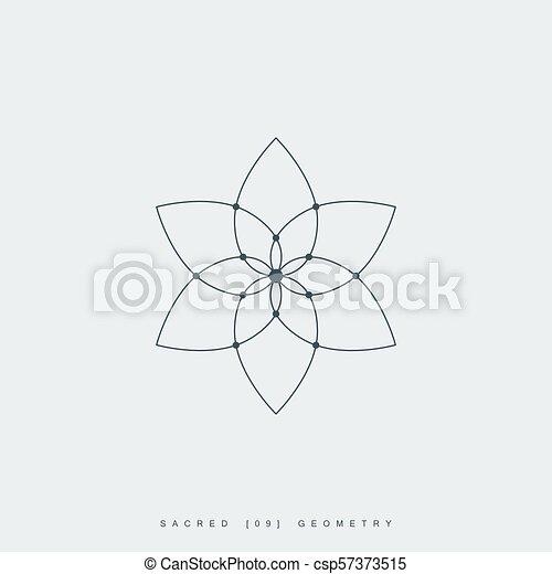 sacré, géométrie - csp57373515