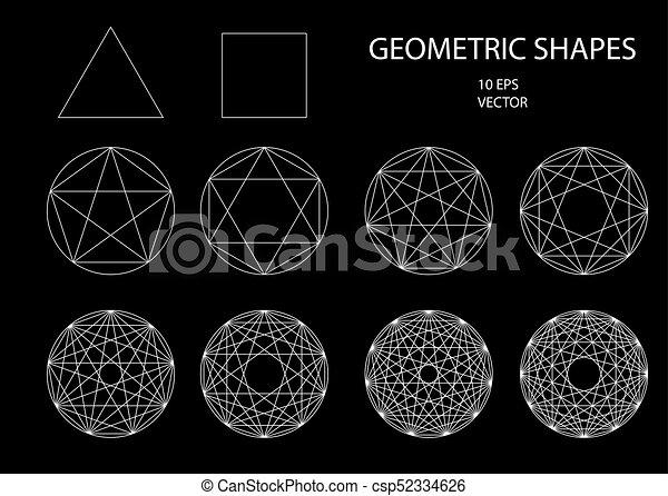 sacré, geometry., drawing. - csp52334626