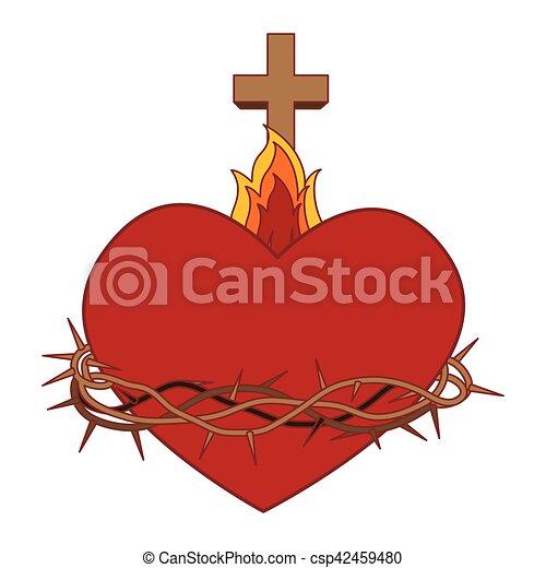 sacré, jésus, coeur - csp42459480