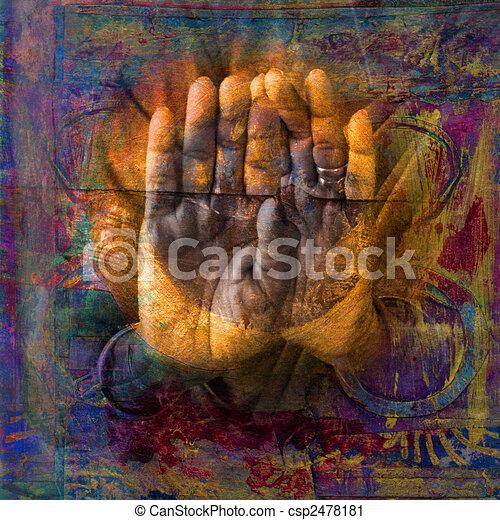 sacré, mains - csp2478181