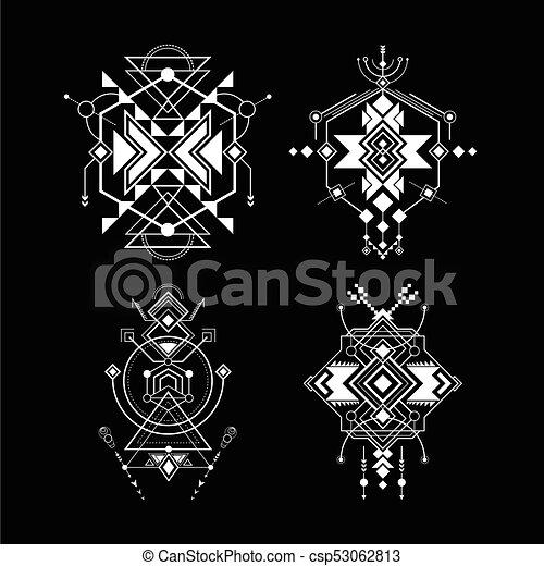 sacré, navajo, géométrie - csp53062813