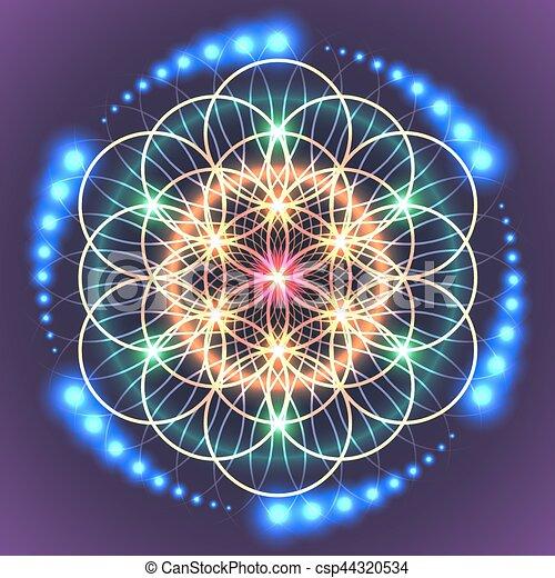 sacré, vie, géométrie, fleur - csp44320534