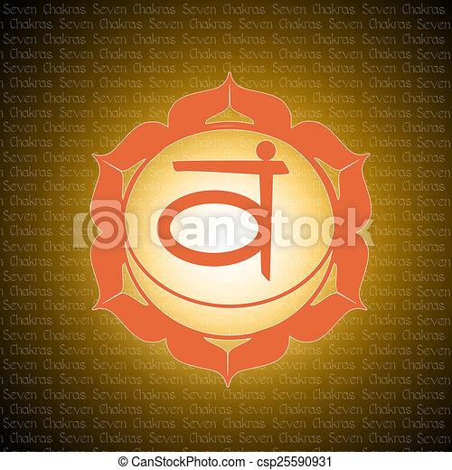 sacral chakra - csp25590931