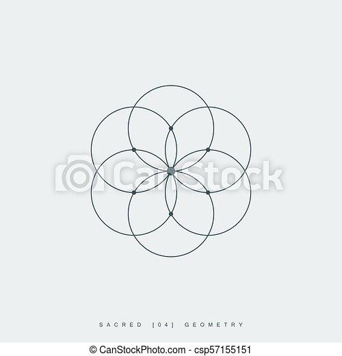 Flower of life. sacred geometry. lotus flower. mandala ...