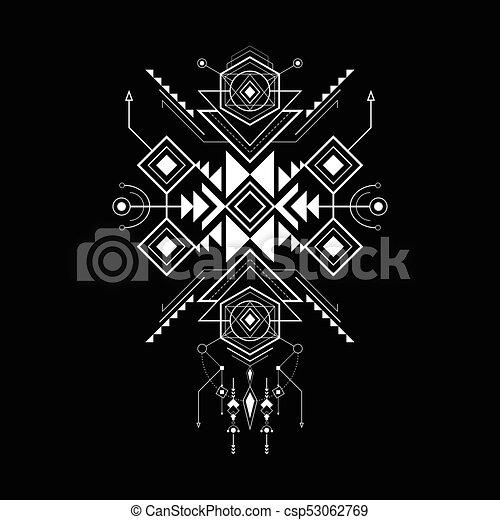 sacred geometry navajo style - csp53062769