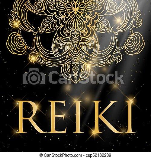 Sacred geometry. Reiki symbol. - csp52182239