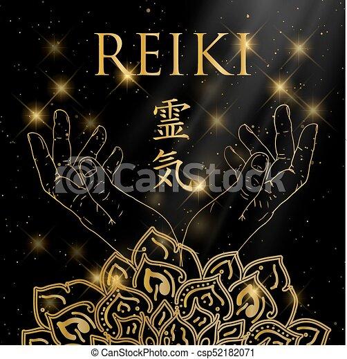 Sacred geometry. Reiki symbol. - csp52182071