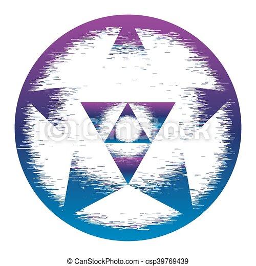 Sacred Geometry Symbol Mandala Mystery Element Used For Space