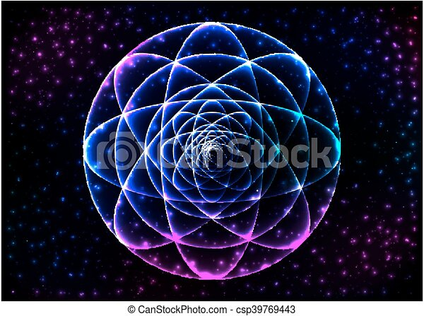 Sacred Geometry Symbol Mandala Mystery Element Used For Space