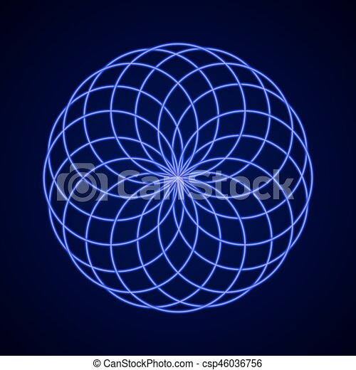 Sacred Geometry. Symbol of Harmony. - csp46036756