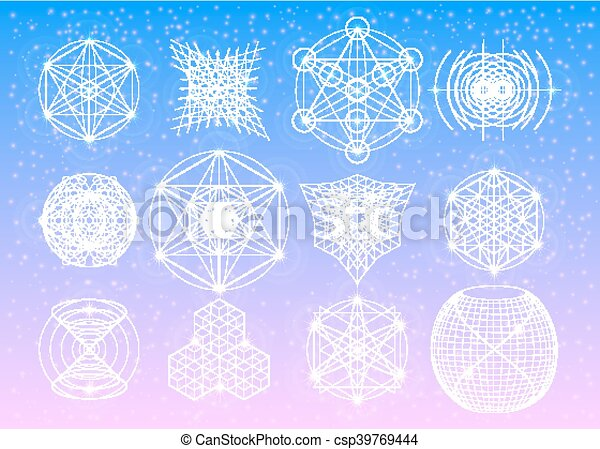 Sacred geometry symbols collection