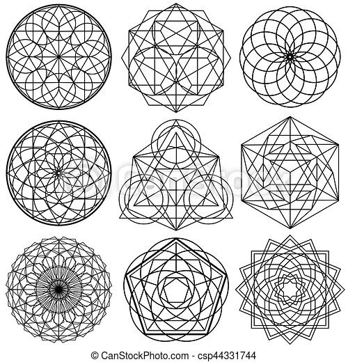 sacred geometry symbols vector set 02 the sacred geometry symbols