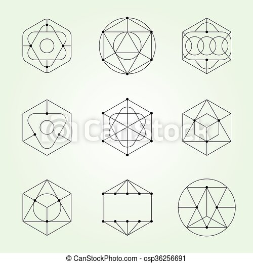 sacred geometry vector set eps vectors search clip art