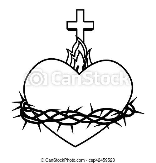 Sacred heart of jesus vector illustration design.