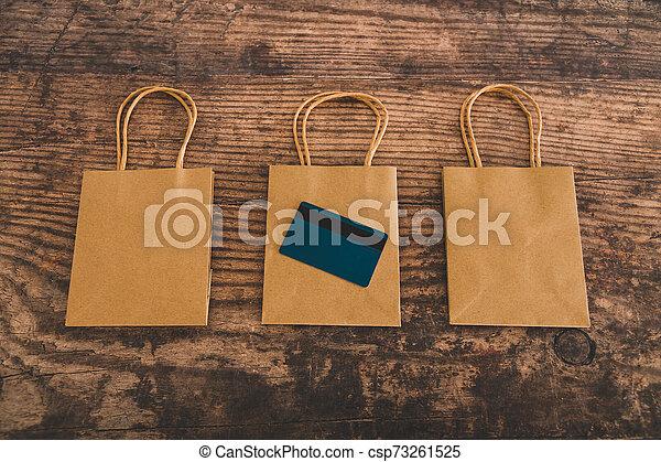 sacs, achats, commercialisation, papier, groupe, paiement, carte - csp73261525