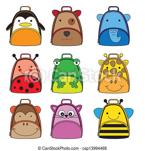 sacs dos, animal, formé - csp13994468