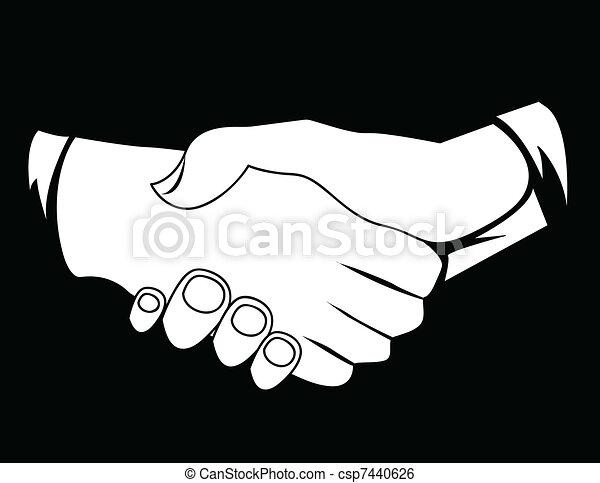 Los hombres de negocios dan la mano - csp7440626