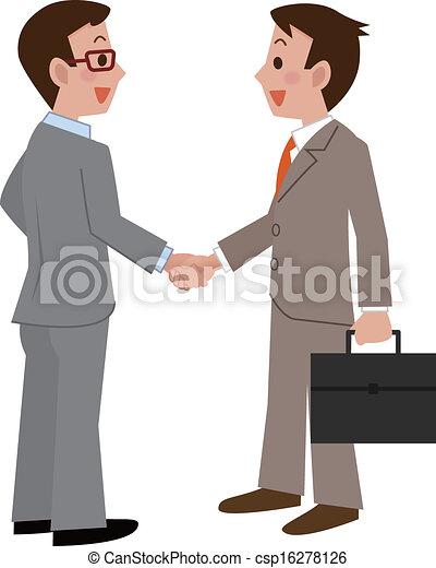 Los hombres de negocios dan la mano - csp16278126