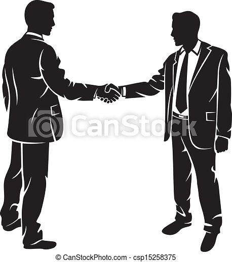 Los hombres de negocios dan la mano - csp15258375