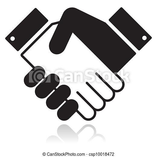 Un icono brillante y limpio con la mano estrecha - csp10018472