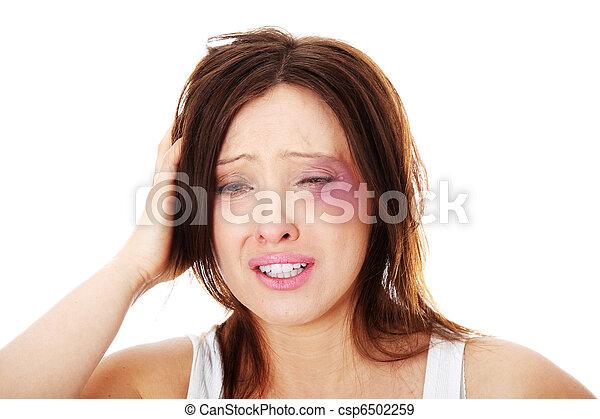 5e0017770d90 Sad abused mature caucasian woman. Sad ,mature , abused caucasian ...