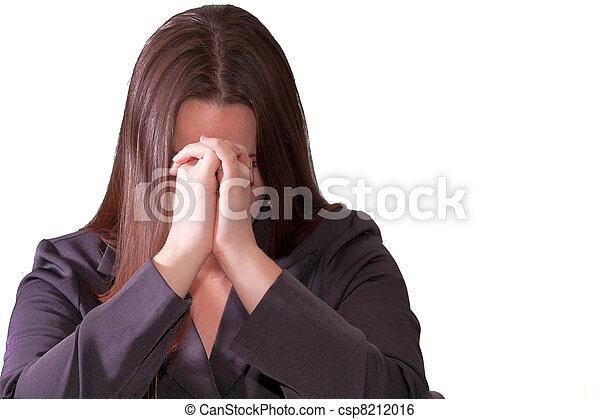 Sad brunette woman - csp8212016