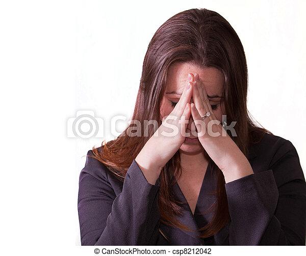 Sad brunette woman - csp8212042