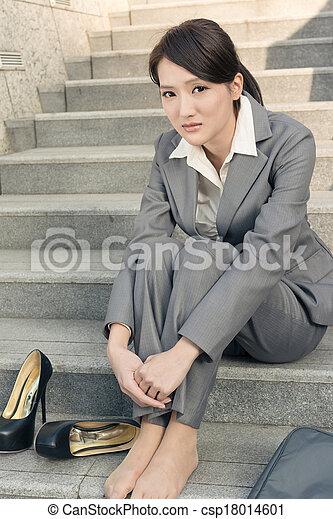 Helpless girl in school