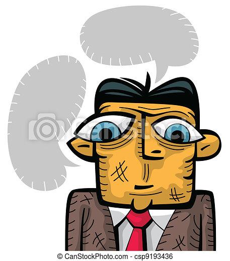 Sad businessman thinking - csp9193436